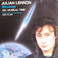 Discos de vinilo: JULIAN LENNON - BECAUSE (DEL MUSICAL TIME) - 1985. Lote 26477872