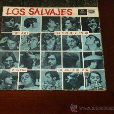 Discos de vinilo: SALVAJES EP TODO NEGRO COVER ROLLING STONES. Lote 27627168