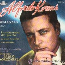 Discos de vinilo: ALFREDO KRAUS ROMANZAS VOL 1 LA TABERNERA DEL PUERTO / LA ISLA DE LAS PERLAS / LOS DE ARAGON . Lote 24091561