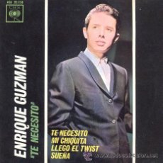 Discos de vinilo: ENRIQUE GUZMAN - TE NECESITO - EP RARO DE VINILO. Lote 24120443