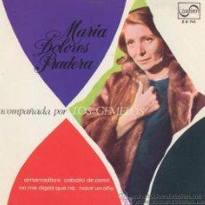Discos de vinilo: MARÍA DOLORES PRADERA - AMARRADITOS, 1967. Lote 154638953