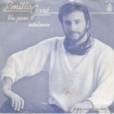 Discos de vinilo: EMILIO JOSE - UN PASO ADELANTE - SINGLE. Lote 14849009