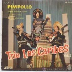 Discos de vinilo: TRIO LOS CARIBES,PIMPOLLO. Lote 26115142