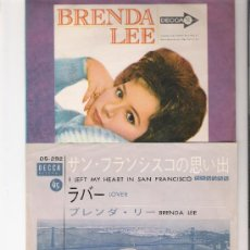 Discos de vinilo: BRENDA LEE-I LEFT MY HEART IN SAN FRANCISCO-EDICION JAPONESA-DECCA DS-292.. Lote 177578234