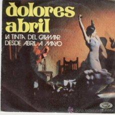 Discos de vinilo: DOLORES ABRIL -LA TINTA DEL CALAMAR - AÑO1971. Lote 24078863