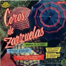 Discos de vinilo: COROS DE ZARZUELAS / COROS LIRICOS DE MADIRD (EP 61) TEMAS EN PORTADA. Lote 24078864