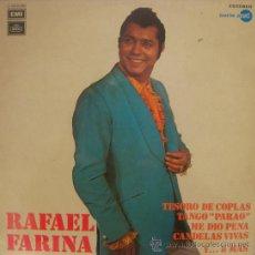 Discos de vinilo: RAFAEL FARINA - TESORO DE COPLAS ´ LP, 1972. Lote 26693450