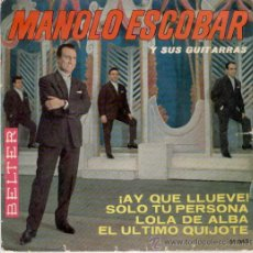 Discos de vinilo: MANOLO ESCOBAR - AY QUE LLUEVE - EP. Lote 14917613