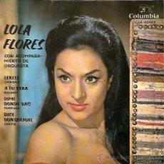Discos de vinilo: LOLA FLORES EP SELLO COLUMBIA AÑO 1962. Lote 14947654