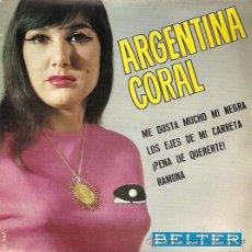 Discos de vinilo: ARGENTINA CORAL EP SELLO BELTER AÑO 1965. Lote 14948455