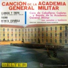 Discos de vinilo: CANCIÓN DE LA ACADEMIA GENERAL MILITAR - EP - 1966. Lote 26953093