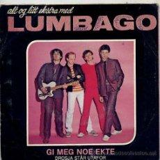 Discos de vinilo: LUMBAGO (SINGLE 80 ORIGINAL SUECO) TEMAS EN PORTADA. Lote 14998741