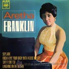 Discos de vinilo: ARETHA FRANKLIN AÑO:1963 EP SELLO:CBS AGS 20.185 DISTRIBUIDO POR: HISPAVOX. Lote 26503896