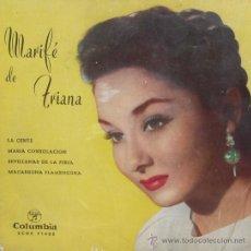 Discos de vinilo: MARIFE DE TRIANA / LA GENTE / MARIA CONSOLACION / SEVILLANAS DE LA FERIA / MACARRONA FLAMENCONA. Lote 236084615