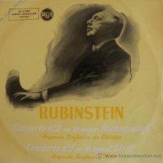 Discos de vinilo: RUBISTEIN - (RACHMANINOFF Y LISZT) - 1958. Lote 27135592
