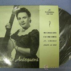 Discos de vinilo: SINGLE DE NIÑA DE ANTEQUERA, CINCO CABALLOS MOROS...... 4 CANCIONES, 1968. Lote 24189864