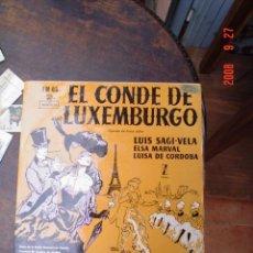 Discos de vinilo: EL CONDE DE LUXEMBURGO. Lote 25991316