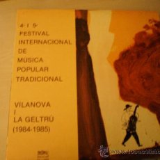 Disques de vinyle: DOBLE LP. 4º I 5º FESTIVAL INTERNACIONAL DE MUSICA POPULAR TRADICIONAL DE VILANOVA I GELTRU. . Lote 15086313