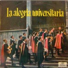 Discos de vinilo: LA ALEGRÍA UNIVERSITARIA - TUNA DE PERITOS INDUSTRIALES DE BARCELONA - 1961. Lote 27434119