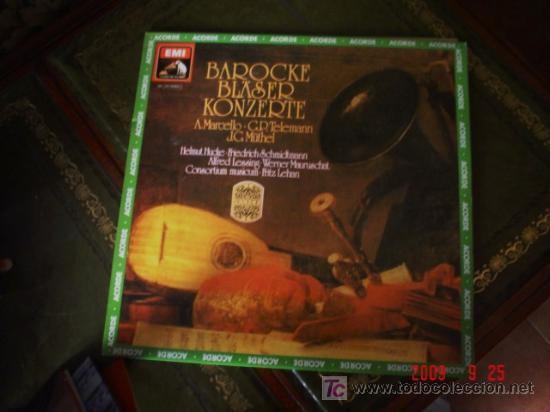 MUSICA BARROCA, MARCELLO, TELEMANN, MÜTHEL (Música - Discos - LP Vinilo - Orquestas)