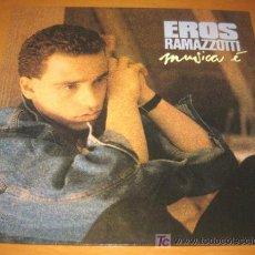Discos de vinilo: EROS RAMAZZOTTI - MUSICA É - DDD 1988 ITALY 209174 CON LETRAS - COMO NUEVO / N MINT. Lote 25024347