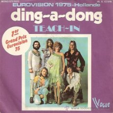 Discos de vinilo: TEACH-IN FESTIVAL DE EUROVISION AÑO 1975 SINGLE SELLO VOGUE EDITADO EN FRANCIA. Lote 15121219
