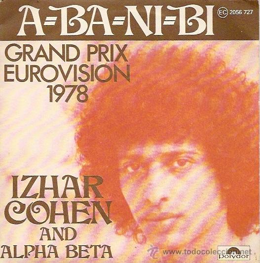 IZHAR COHEN AND ALPHA BETA FESTIVAL DE EUROVISION AÑO 1978 SINGLE SELLO POLYDOR (Música - Discos - Singles Vinilo - Festival de Eurovisión)