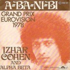 Disques de vinyle: IZHAR COHEN AND ALPHA BETA FESTIVAL DE EUROVISION AÑO 1978 SINGLE SELLO POLYDOR. Lote 15123402