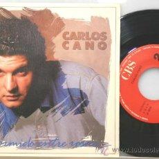 Discos de vinilo: CARLOS CANO DORMIDO ENTRE ROSAS-DON TRIQUITRAQUE SINGLE 1988. Lote 15129530