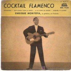 Discos de vinilo: COCKTAIL FLAMENCO - ENRIQUE MONTOYA - ESPERANZA ** EP REGAL 1959 COLOR ROSA. Lote 15130512