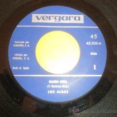 Discos de vinilo: LOS ALBAS - QUIEN SERA / A LITTLE BIT HURT - (VERGARA-1969). Lote 24116464