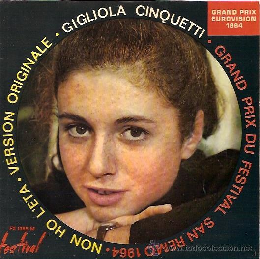 GIGLIOLA CINQUETTI FESTIVAL DE EUROVISION AÑO 1964 EP SELLO CDG EDITADO EN FRANCIA (Música - Discos de Vinilo - EPs - Festival de Eurovisión)