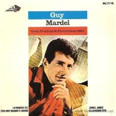 Discos de vinilo: GUY MARDEL FESTIVAL DE EUROVISION AÑO 1965 EP SELLO HISPAVOX. Lote 15156016