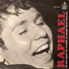 Discos de vinilo: RAPHAEL FESTIVAL DE EUROVISION AÑO 1966 EP SELLO HISPAVOX. Lote 15156083