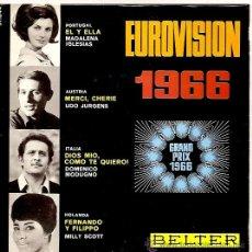 Discos de vinilo: MADALENA IGLESIAS / UDO JURGENS FESTIVAL DE EUROVISION AÑO 1966 EP SELLO BELTER. Lote 15156129