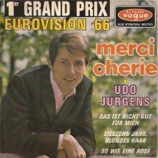 Discos de vinilo: UDO JURGENS FESTIVAL DE EUROVISION AÑO 1966 EP SELLO VOGUE EDITADO EN FRANCIA. Lote 15156142