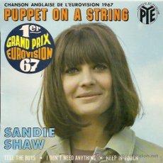 Discos de vinilo: SANDIE SHWA FESTIVAL DE EUROVISION AÑO 1967 EP SELLO PYE EDICCIÓN FRANCESA . Lote 15156238