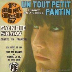 Discos de vinilo: SANDIE SHWA FESTIVAL DE EUROVISION AÑO 1967 EP SELLO PYE CANTA EN FRANCES EDICCIÓN FRANCESA . Lote 15156246