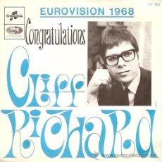 Discos de vinilo: CLIFF RICHARD FESTIVAL DE EUROVISION AÑO 1968 SINGLE SELLO COLUMBIA EDITADO EN FRANCIA . Lote 15156346