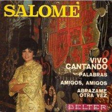 Discos de vinilo: SALOME FESTIVAL DE EUROVISION AÑO 1969 EP SELLO BELTER. Lote 15156366
