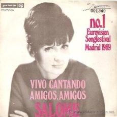 Discos de vinilo: SALOME FESTIVAL DE EUROVISION AÑO 1969 SINGLE SELLO PALETTE EDICCIÓN HOLANDESA. Lote 15156389
