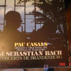 Discos de vinilo: J.S. BACH, CON PAUL CASALS. Lote 25514058