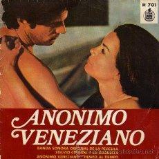 Discos de vinilo: BSO DEL FILM - ANONIMO VENEZIANO - ··· ANONIMO VENEZIANO / TIEMPO AL TIEMPO - (SINGLE 45 RPM). Lote 20470120