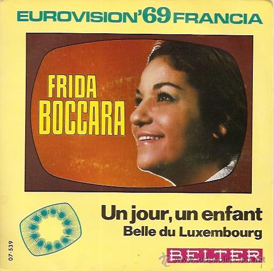 FRIDA BOCCARA FESTIVAL DE EUROVISIÓN AÑO 1969 SINGLE SELLO BELTER. (Música - Discos - Singles Vinilo - Festival de Eurovisión)