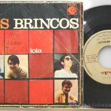 Discos de vinilo: LOS BRINCOS LOLA - THE TRAIN SINGLE NOVOLA 1967. Lote 15179768
