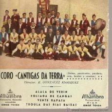Discos de vinilo: EP GALICIA FOLK: CORO CANTIGAS DA TERRA: ALALA DE VERIN + 3. Lote 25091613