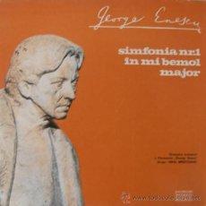 Discos de vinilo: GEORGE ENESCU - SINFONÍA Nº 1 EN MI BEMOL OP.13 (EDITADO EN RUMANIA). Lote 26721262