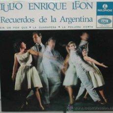Discos de vinilo: TULIO ENRIQUE LEON EP EDICIÓN PORTUGUESA. Lote 15267099