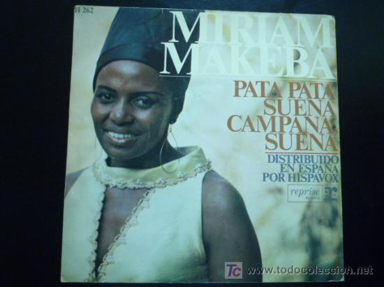 MIRIAM MAKEBA  PATA PATA  SINGLE 2 CANCIONES  1968
