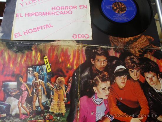 ALASKA Y LOS PEGAMOIDES - HORROR EN EL HIPERMERCADO - SPANISH PUNK EP 1980 - CON POSTER (Música - Discos de Vinilo - EPs - Grupos Españoles de los 70 y 80)
